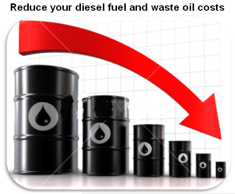 Techenomics Oil Burn System Reduce Diesel Fuel And Waste